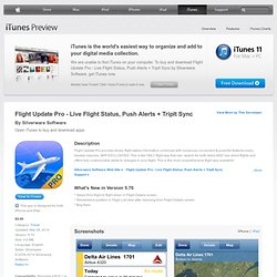 Flight Update Pro - Live Status, Push + TripIt for iPhone, iPod touch, and iPad on the iTunes App Store