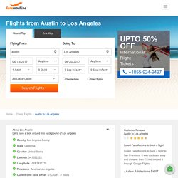 Cheap Flights from Austin to Los Angeles - FareMachine