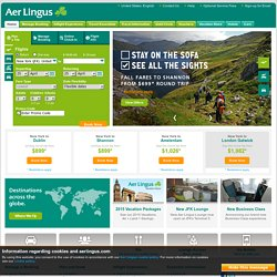 Cheap Flights - To and from Dublin, Europe, UK & USA - Aer Lingus