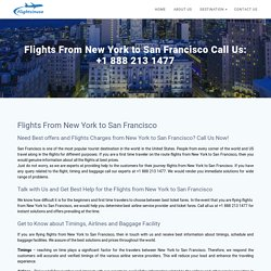 Flights From New York to San Francisco