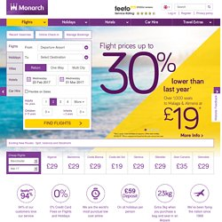 Monarch | Cheap Flights, Holidays & Hotels