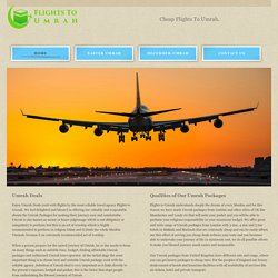Flights to Umrah - Cheap Umrah Flights Tickets from UK