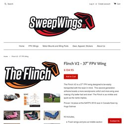 "Flinch V2 - 37"" FPV Wing – SweepwingsRC"