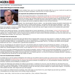 Alain Cotta flingue la monnaie unique - euro