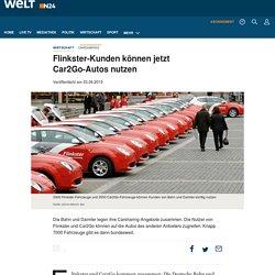 Flinkster, Car2Go: Daimler und Bahn legen Carsharing zusammen - WELT