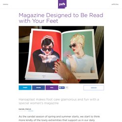 Flip Pages with Toes, in Magazine Made for Feet