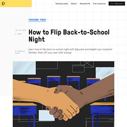 How to Flip Back-to-School Night