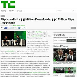 Flipboard Hits 3.5 Million Downloads, 550 Million Flips Per Month