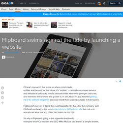Flipboard swims against the tide by launching a website