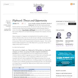 Flipboard: Threat and Opportunity