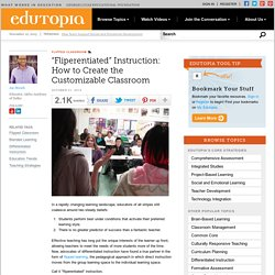 """Fliperentiated"" Instruction: How to Create the Customizable Classroom"
