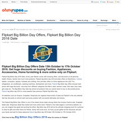 Flipkart Big Billion Day Offers