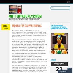 Modell för djupare analys