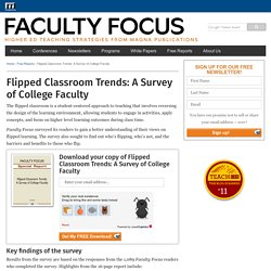 Flipped Classroom Trends: A Survey of College Faculty
