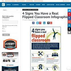4 Signs You Have a Real Flipped Classroom Infographic