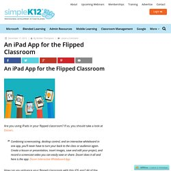 An iPad App for the Flipped Classroom - Simplek12