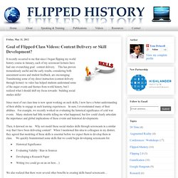 Goal of Flipped Class Videos: Content Delivery or Skill Development?