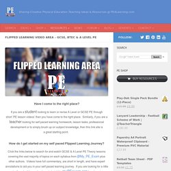 Flipped Learning Videos - GCSE & A Level PE