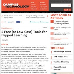 5 Free (or Low-Cost) Tools for Flipped Learning
