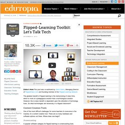 Flipped-Learning Toolkit: Let's Talk Tech