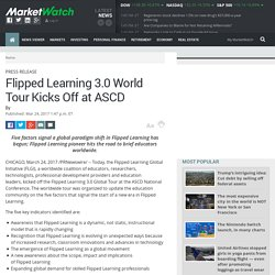 Flipped Learning 3.0 World Tour Kicks Off at ASCD