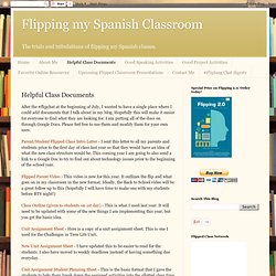 Flipped Class Helpful Documents