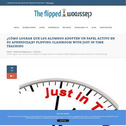 flipping classroom with just in time teaching