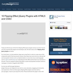 20 Best Free Flipping Effect jQuery Plugins with HTML5 and CSS3