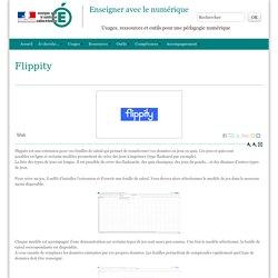 Flippity - Enseigner avec le numérique