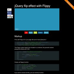 Flippy a jQuery flip effect plugin