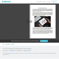 FlipSnack - Five Employee... by melissahankin