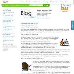 Float Tank Solutions — Float Tank Solutions Blog