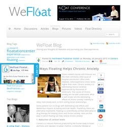 5 Ways Floating Helps Chronic Anxiety - WeFloat