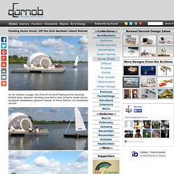 Floating Dome Home: Off-the-Grid Geodesic Island Retreat