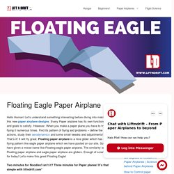 Learn how to make Floating eagle paper airplane!