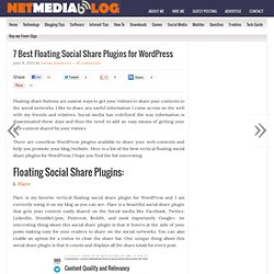 7 Best Floating Social Share Plugins for Wordpress