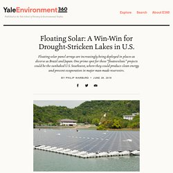 Japanese Floatovoltaics Plant Powers 5000 Homes