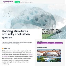 Floating structures naturally cool urban spaces