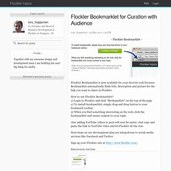 Bookmarklet for Curation with Audience