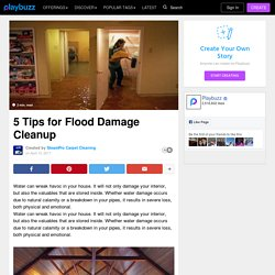 Tips for Flood Damage Cleanup
