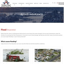 Homeowner's insurance flood coverage : Flood Insurance Coverage Texas