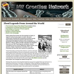 Flood Legends From Around the World