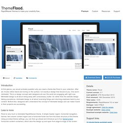 Flood RapidWeaver Theme
