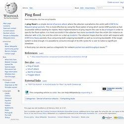 Ping flood
