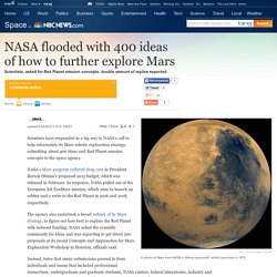 NASA flooded with 400 ideas to explore Mars - Technology & science - Space - Space.com