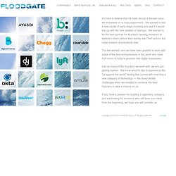 Floodgate Fund: Opening the Gates to Success