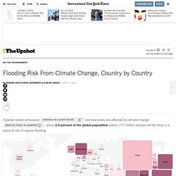 Flooding Risk From Climate Change, Country by Country