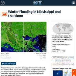 Winter Flooding in Mississippi and Louisiana