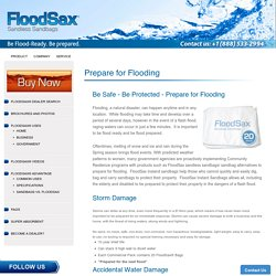Buy Sandbags for Flooding – FloodSax Sandless Sandbags North America