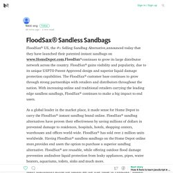 FloodSax® Sandless Sandbags – Medium